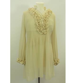 Jumpo Ivory White Long-Sleeved Top Size M Jumpo - Size: M - Cream / ivory - Blouse