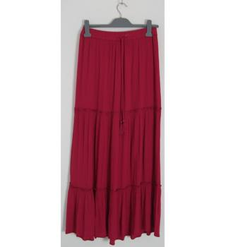Marks & Spencer Collection Pink Long Skirt UK Size 8 / Euro Size 36
