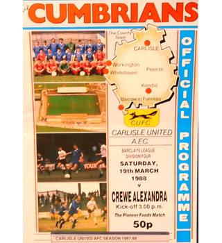 Carlisle United v Crewe Alexandra - Division 4 - 19th March 1988