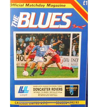 Carlisle United v Doncaster United - Division 3 - 27th March 1993