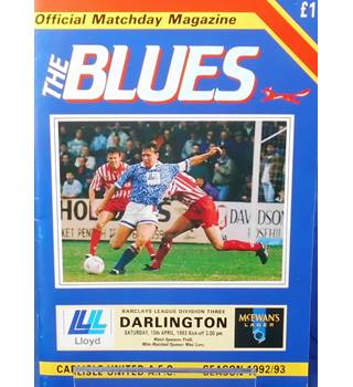 Carlisle United v Darlington - Division 3 - 10th April 1993