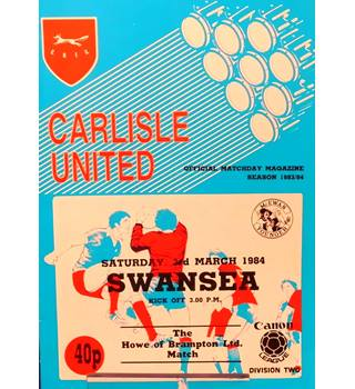 Carlisle United v Swansea City - Division 2 - 3rd March 1984