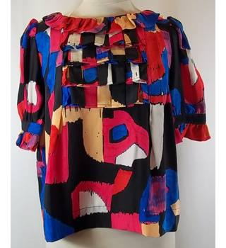 Chloe - Multi-coloured - Blouse - 100% SILK