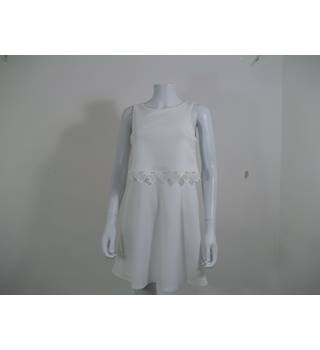 White A-line dress for girls aged 14 from Matalan. Matalan (Candy Couture) - Size: 13 - 14 Years - White - Knee length dress