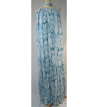 Next - Size: 14 - Turquoise Blue crinkle - Long dress