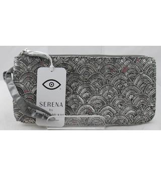 BNWT Serena by Sunita Mukhi silver beaded & sequinned wristlet bag