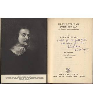 In the Steps of John Bunyan Signed by the author Vera Brittain