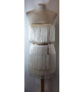 Elisabetta Franchi - Size: 10 - Cream / ivory - Strapless dress