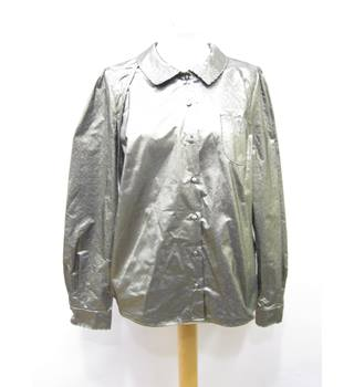 BNWT M&S Marks & Spencer - Size: 8 - Metallic - Blouse