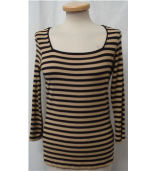 Jaeger - Size: S Black and Beige Long sleeved shirt