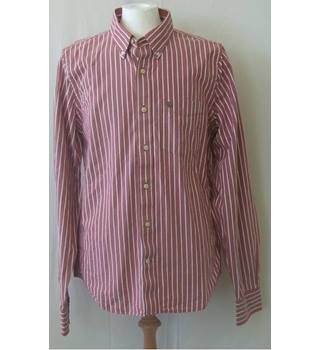 Abercrombie & Fitch size XL red and white striped long sleeved shirt