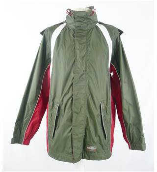 TCM Weather Gear Size:S Khaki with Red and White Jacket