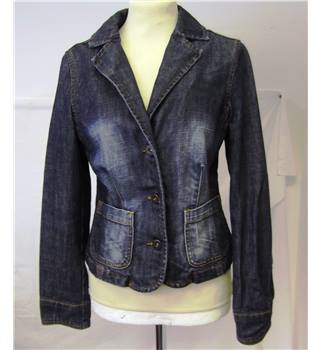 Oasis - Size 10 - blue fitted denim jacket