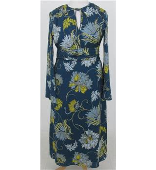 M&S Size:12 turquoise floral maxi dress