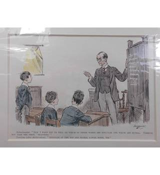 Punch Print 1928; Hand Coloured