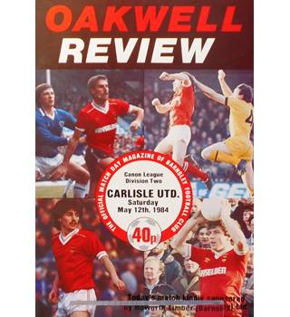 Barnsley v Carlisle United - Division 2 - 12th May 1984