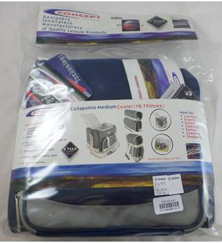Concept BNWT collapsible medium cooler in blue/grey