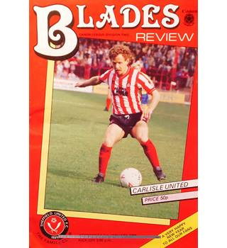 Sheffield United v Carlisle United - Division 2 - 1st January 1986