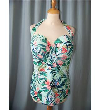 NWOT M&S Marks & Spencer - Size 38C Bust green floral patterned summer beach top