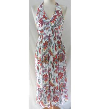 Atmosphere - Size: 12 - White / multi-coloured - Halter-neck dress