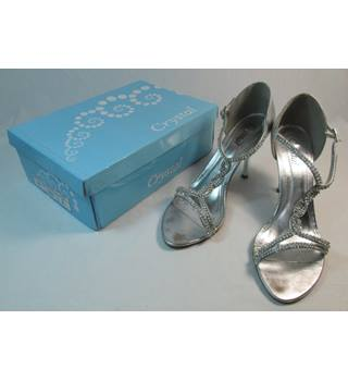 Crystal - Size: 8 - Silver Sparkle - Sandals