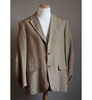 Boden Silk and Linen Suit Boden - Size: L - Brown