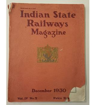 Indian State Railways Magazine, December 1930