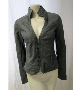 Provider Size S Grey Soft Leather Jacket Provider - Size: S - Grey