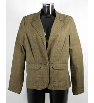 BNWOT Autograph Jacket - Brown Tweed Print - Size 16