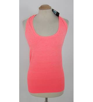 Marks & Spencer Neon Orange Ombre Stripe Fitness Vest Top Size Large