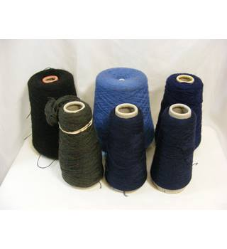Six Part Used Bobbins of Commercial Grade Yarn