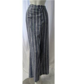 M&S Collection - Size 18 - Blue with white stripe trousers