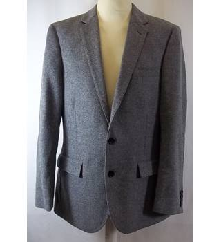 Crew - Size: 40R - Grey - Jacket - 100% wool