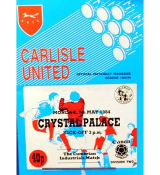 Carlisle United v Crystal Palace - Division 2 - 7th May 1984