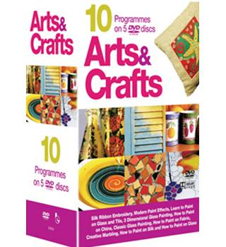 Arts and Crafts Tutorials : 10 programmes on 5 discs : new and sealed