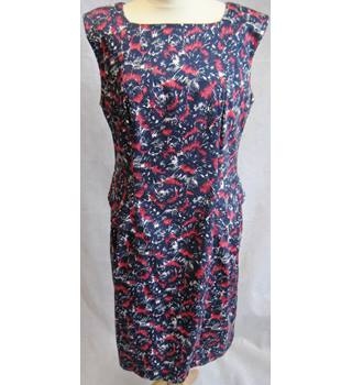 French Connection blue/red splatter print dress size 16 French Connection - Size: 16 - Blue - Sleeveless