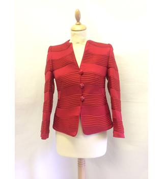 Armani - Size 8 - Red - short single breasted jacket ARMANI - Size: 8 - Red - Smart jacket / coat