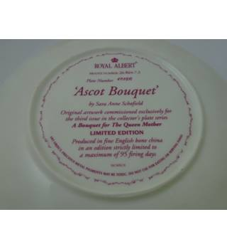 "Collectors Royal Albert ""Ascot Bouquet"" Display Plate"