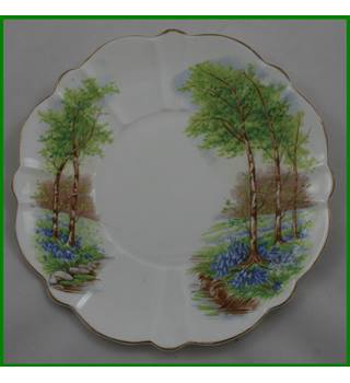 Victoria plate - C & E Bone china - Bluebells