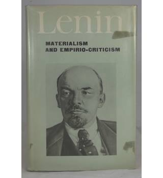 Lenin.  Materialism and Empirio-Criticism