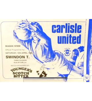 Carlisle United v Swindon Town - Division 3 - 12th April 1980