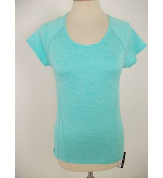 Marks & Spencer Fitness Aqua Green Short Sleeved Top Size 20