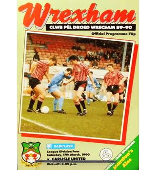 Wrexham v Carlisle United - Division 4 - 17th March 1990