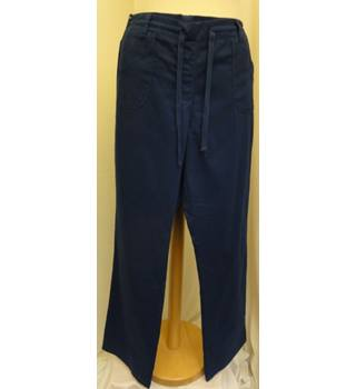 "Cotton Traders - Size: 34"" - Blue - Trousers"