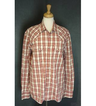 Levi Strauss - Size: L - Red Check - Long sleeved Shirt