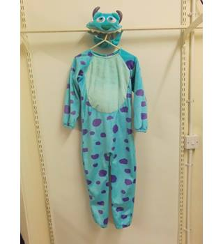 "kids blue and purple monsters inc ""sully"" onesie Unbranded - Size: 7-8yrs - Blue"