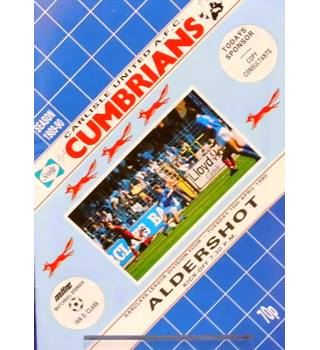 Carlisle United v Aldershot Town - Division 4 - 10th April 1990