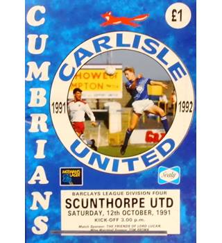 Carlisle United v Scunthorpe United - Division 4 - 12th October 1991