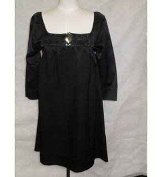 Warehouse - Black - Smock Party Dress - Size 10