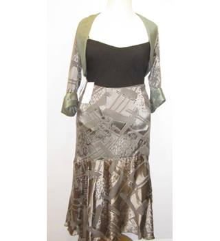 BNWT Michel Ambers Skirt with Bolero - Metallic Grey - Size 12
